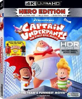 Captain Underpants: The First Epic Movie 4K 2017 Ultra HD 2160p